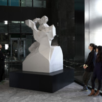Quayola, Laocoön #D20-Q1, 2016, Sculpture, pulverised White Marble, cm 230x123x130